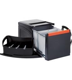 Franke Cube sarokba, 2x18L + 2 oldalsó kosárral