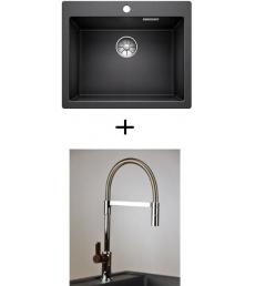 AKCIÓ! Blanco Pleon 6 mosogató + olasz zuhanyfejes Master csaptelep