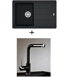 AKCIÓ! Franke BFG 611-78 mosogató + olasz zuhanyfejes Alano CR csaptelep