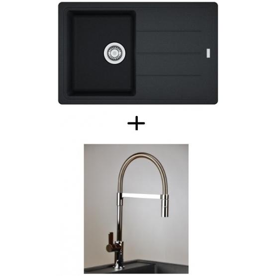 AKCIÓ! Franke BFG 611-78 mosogató + olasz zuhanyfejes Master csaptelep