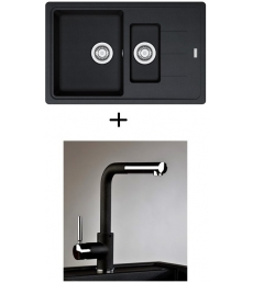 AKCIÓ! Franke BFG 651-78 mosogató + olasz zuhanyfejes Alano CR csaptelep