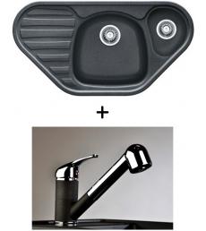 AKCIÓ! Franke COG 651E mosogató + olasz zuhanyfejes Altea CR csaptelep