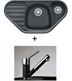 AKCIÓ! Franke COG 651E mosogató + olasz zuhanyfejes Bruno csaptelep