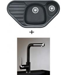 AKCIÓ! Franke COG 651E mosogató + olasz zuhanyfejes Alano CR csaptelep