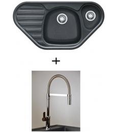 AKCIÓ! Franke COG 651E mosogató + olasz zuhanyfejes Master csaptelep