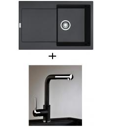 AKCIÓ! Franke MRG 611 mosogató + olasz zuhanyfejes Alano CR csaptelep