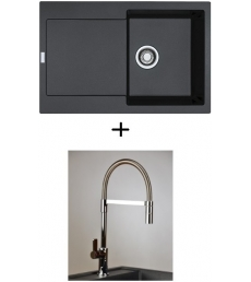 AKCIÓ! Franke MRG 611 mosogató + olasz zuhanyfejes Master csaptelep