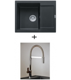 AKCIÓ! Franke MRG 611-62 mosogató + olasz zuhanyfejes Master csaptelep