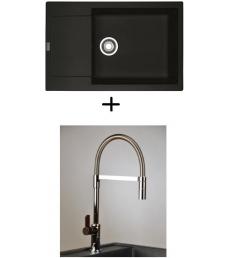 AKCIÓ! Franke MRG 611-78 BB mosogató + olasz zuhanyfejes Master csaptelep