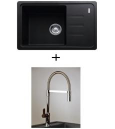 AKCIÓ! Franke BSG 611-62 mosogató + olasz zuhanyfejes Master csaptelep