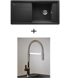 AKCIÓ! Blanco Faron XL 6 S + olasz zuhanyfejes Master csaptelep