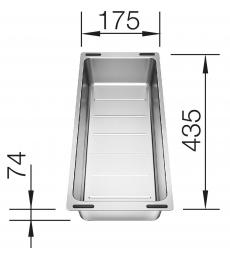 Blanco gyümölcsmosó tál Zia 6 S modellhez - 220 736