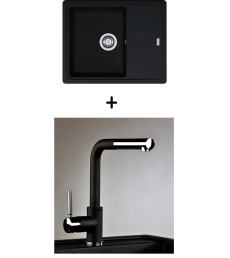 AKCIÓ! Franke BFG 611-62 mosogató + olasz zuhanyfejes Alano CR csaptelep