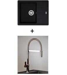 AKCIÓ! Franke BFG 611-62 mosogató + olasz zuhanyfejes Master csaptelep