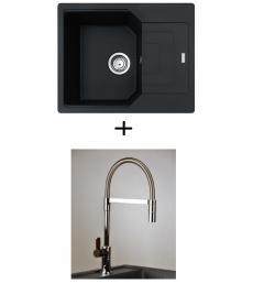AKCIÓ! Franke UBG 611-62 + olasz zuhanyfejes Master csaptelep