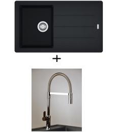 AKCIÓ! Franke BFG 611-86 + olasz zuhanyfejes Master csaptelep