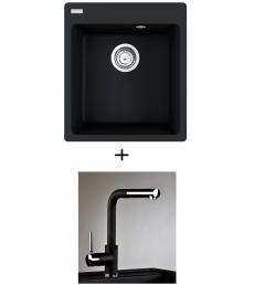 AKCIÓ! Franke CNG 610-39 mosogató + olasz zuhanyfejes Alano CR csaptelep