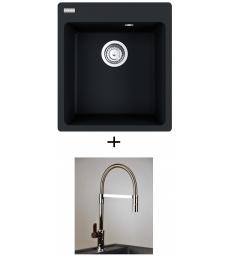AKCIÓ! Franke CNG 610-39 mosogató + olasz zuhanyfejes Master csaptelep