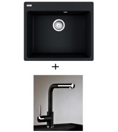 AKCIÓ! Franke CNG 610-54 mosogató + olasz zuhanyfejes Alano CR csaptelep