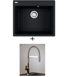 AKCIÓ! Franke CNG 610-54 mosogató + olasz zuhanyfejes Master csaptelep