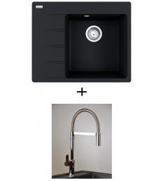 AKCIÓ! Franke CNG 611-62 TL/7 mosogató + olasz zuhanyfejes Master csaptelep