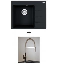 AKCIÓ! Franke CNG 611-62 TL/2 mosogató + olasz zuhanyfejes Master csaptelep
