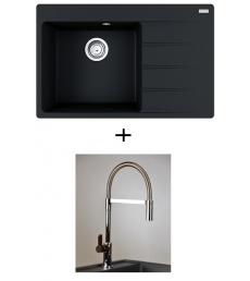 AKCIÓ! Franke CNG 611-78 TL/2 + olasz zuhanyfejes Master csaptelep