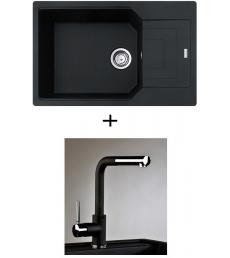 AKCIÓ! UBG 611-78 BB mosogató + olasz zuhanyfejes Alano CR csaptelep
