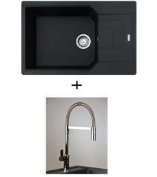AKCIÓ! UBG 611-78 BB mosogató + olasz zuhanyfejes Master csaptelep