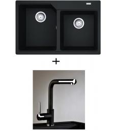 AKCIÓ! Franke UBG 620-78 mosogató + olasz zuhanyfejes Alano CR csaptelep