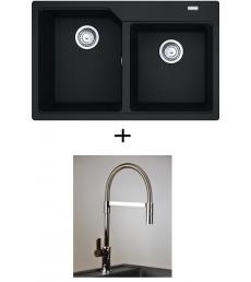 AKCIÓ! Franke UBG 620-78 mosogató + olasz zuhanyfejes Master csaptelep
