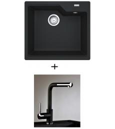 AKCIÓ! Franke UBG 610-56 mosogató + olasz zuhanyfejes Alano CR csaptelep