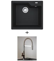 AKCIÓ! Franke UBG 610-56 mosogató + olasz zuhanyfejes Master csaptelep