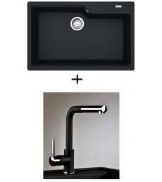 AKCIÓ! Franke UBG 610-78 mosogató + olasz zuhanyfejes Alano CR csaptelep