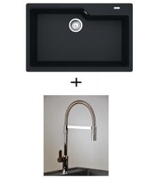AKCIÓ! Franke UBG 610-78 mosogató + olasz zuhanyfejes Master csaptelep