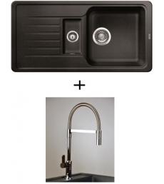 AKCIÓ! Blanco Favos 6 S + olasz zuhanyfejes Master csaptelep