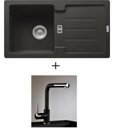 AKCIÓ! Franke STG 614-78 mosogató + olasz zuhanyfejes Alano CR csaptelep, 7 színben