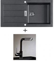 AKCIÓ! Franke SID 611 mosogató + olasz zuhanyfejes Alano CR csaptelep, 4 színben