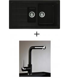 AKCIÓ! Schock Formhaus D-150 + olasz zuhanyfejes Alano CR csaptelep, 2 színben