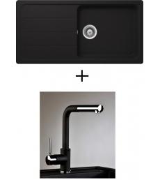 AKCIÓ! Schock Formhaus D-100L + olasz zuhanyfejes Alano CR csaptelep, 3 színben