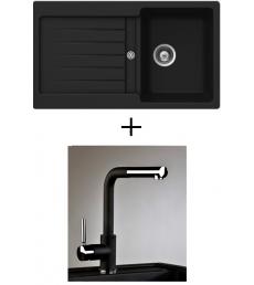 AKCIÓ! Schock Typos D-100 + olasz zuhanyfejes Alano CR csaptelep, 2 színben