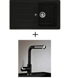 AKCIÓ! Teka Simpla 45 B-TG + olasz zuhanyfejes Alano CR csaptelep, 3 színben