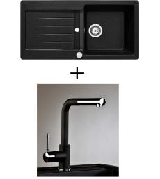 AKCIÓ! Teka Kea 45 B-TG + olasz zuhanyfejes Alano CR csaptelep, 4 színben