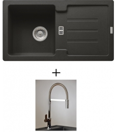 AKCIÓ! Franke STG 614-78 mosogató + olasz zuhanyfejes Master csaptelep, 7 színben