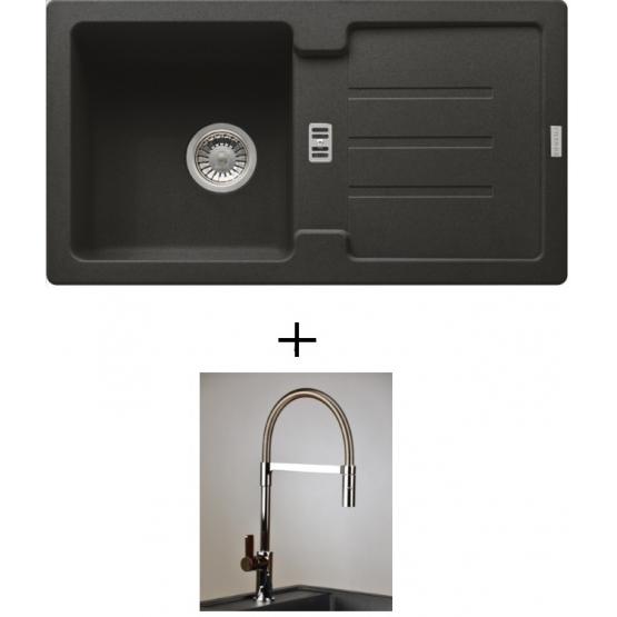 AKCIÓ! Franke STG 614-78 mosogató + olasz zuhanyfejes Master csaptelep
