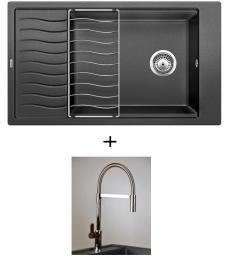 AKCIÓ! Blanco Elon XL 8 S + olasz zuhanyfejes Master csaptelep, 7 színben