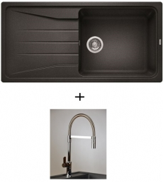 AKCIÓ! Blanco Sona XL 6 S + olasz zuhanyfejes Master csaptelep, 7 színben