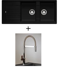 AKCIÓ! Blanco Zia 8 S + olasz zuhanyfejes Master csaptelep, 7 színben