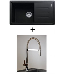 AKCIÓ! Franke BSG 611-78/39 mosogató + olasz zuhanyfejes Master csaptelep