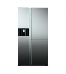 HITACHI Side-by-Side hűtőszekrény, 3 ajtós, 584l, tükörüveg